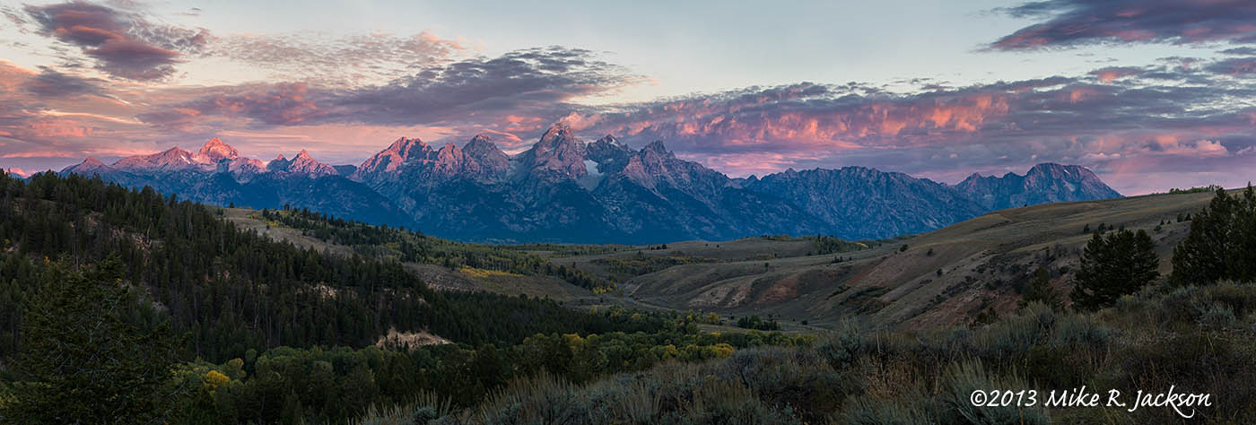 Gros Ventre Sunrise Pano