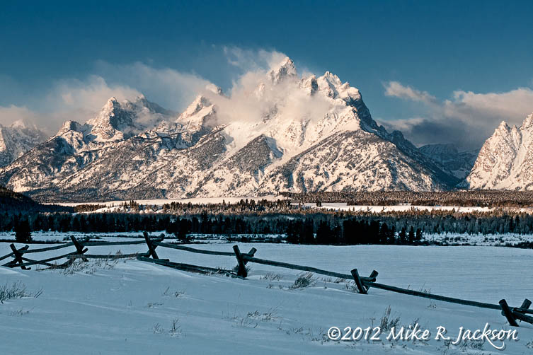 Tetons Snow Fence Jan27