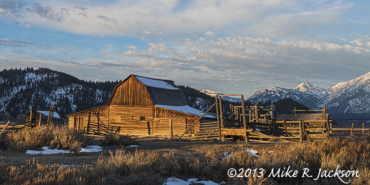 Moulton Barn Sunrise Nov11