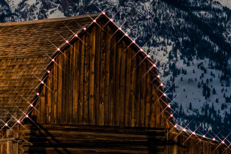 Christmas Lights on the Moulton Barn