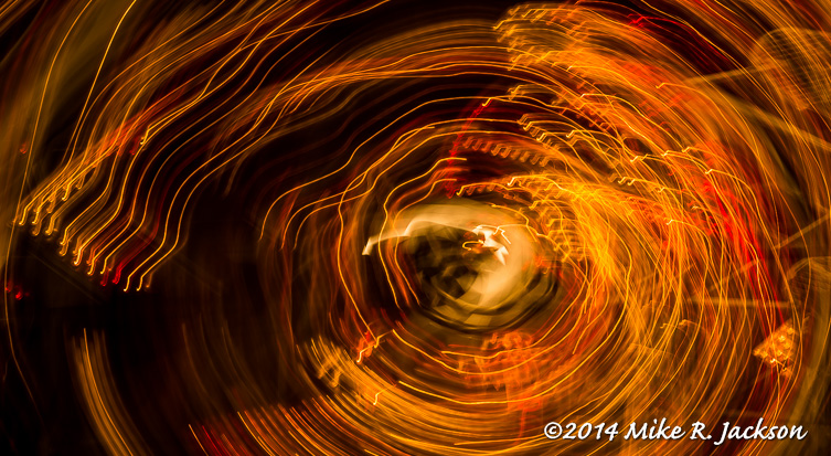 abstract image of fair lights in motion