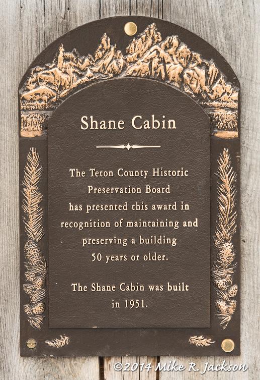 Shane Cabin Plaque