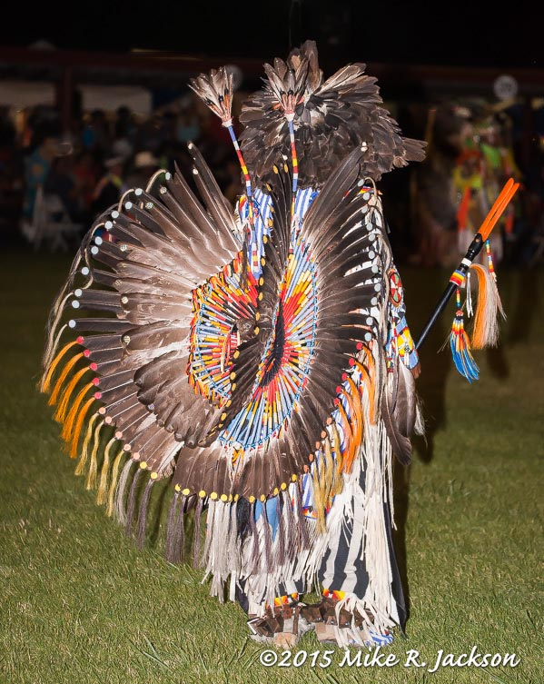Double Eagle Feather Bustle