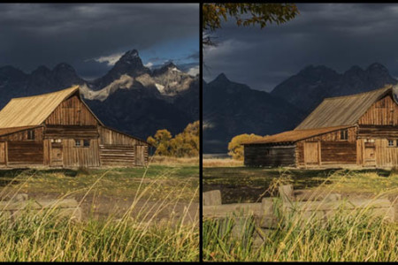 Aging the New Moulton Barn Roof in Lightroom: