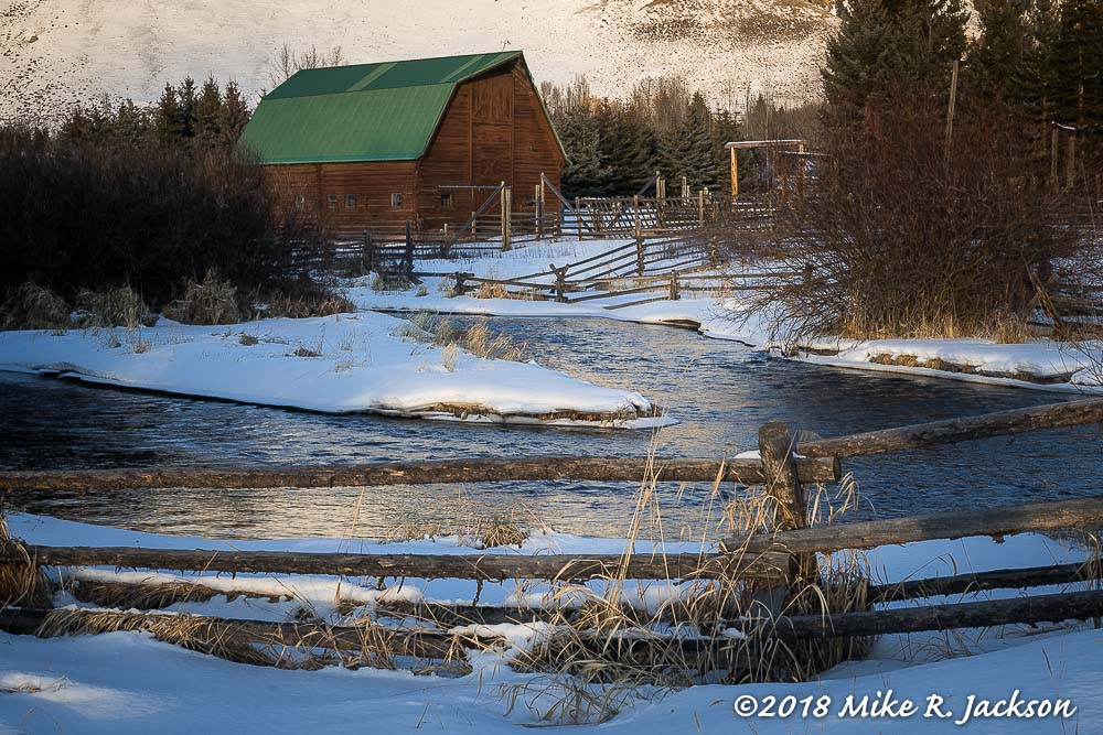 Flat Creek and Barn