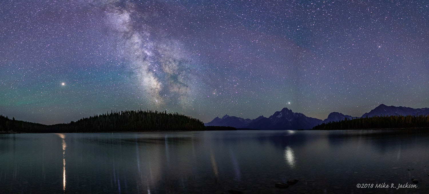 Jackson Lake Night Pano