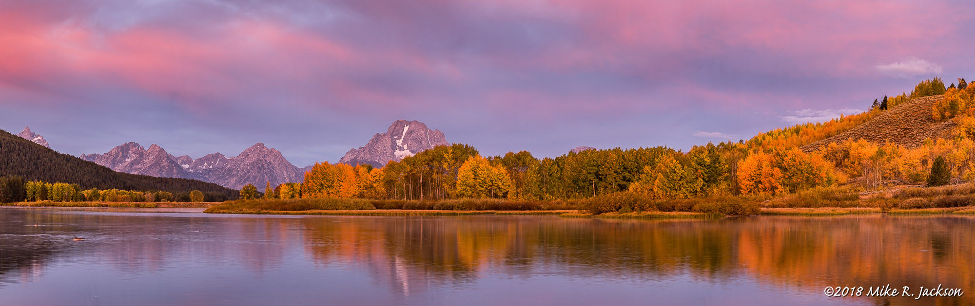 Alpenglow at Oxbow Bend