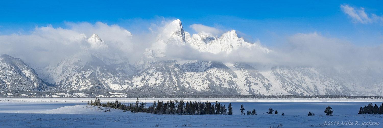 Teton Range with Morning Clouds